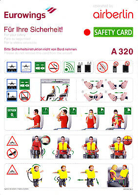 Safety Card: Eurowings (operated by Air Berlin) - Airbus A320