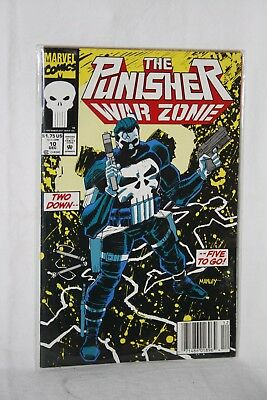 Marvel Comics The Punisher War Zone #10 Dec Sleeved Two Down Five to Go