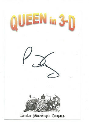 Brian May Signed Autographed Queen In 3D Official Book Plate Freddie Mercury