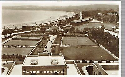 Swansea View From Civic Centre Rp 1949