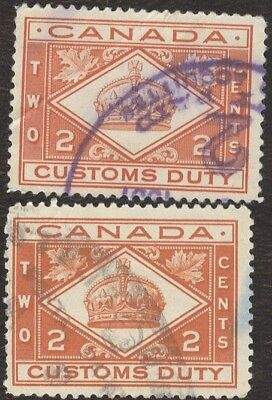 Stamps Canada, FCD 2, 2¢, 1935, lot of 2 used stamps.