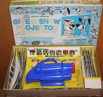 Vintage Toy Give a Show Projector Chad Valley 1970s Original Box and Slides
