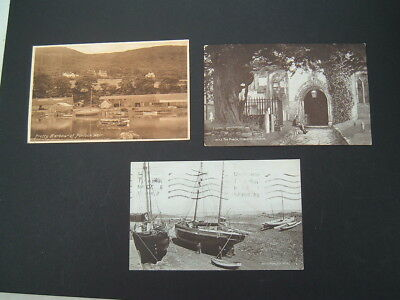 3 Vintage  Postcards  - Porlock Weir, Somerset . Posted 1934/5 Salmon / Frith