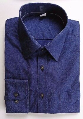Ex M&S AUTOGRAPH REGULAR FIT MIDNIGHT BLUE SHIRT SUPIMA COTTON  14.5-18.5 A57
