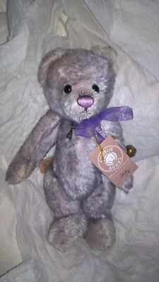 Charlie Bears Hopscotch cute tactile LILAC limited edition 406 of 2000