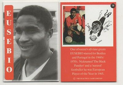 "RARE Benfica/Portugal Eusebio Card #38 by ""The Beautiful Game Ltd"" in 1998"