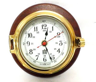 SEWILLS Battery Operated Brass & Wooden CLOCK 8 x 18.5 cm - G09