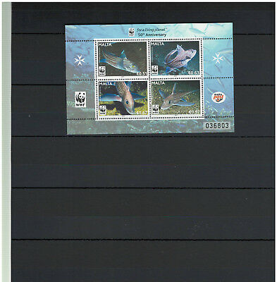 MALTA 2011, Stamps, Full Sheet, Nature, WWF, Fishes, Oceans, MNH -