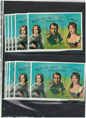 10 x TCHAD, Stamps, ART, Kunst, France, NAPOLEON, MNH - WHOLESALE