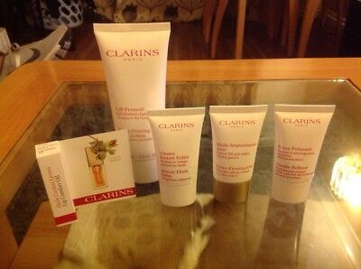 Clarins Gift Set Beauty Flash Balm Firming Body Day Lip Oil