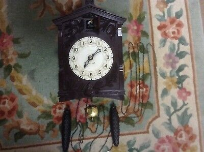 Vintage Cuckoo Clock Mechanical Russian Majak Clock Working - Cuckoo not Tested