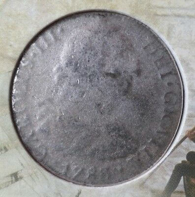 1783 Mexico Spanish Colonial 8 Reales Silver Piece of Eight