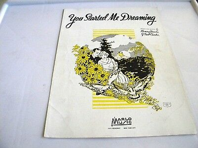 "Vintage Sheet Music ""You Started Me Dreaming""  1936"