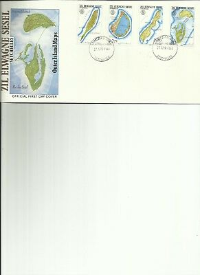 Seychelles - Outer Island Maps - Fdc