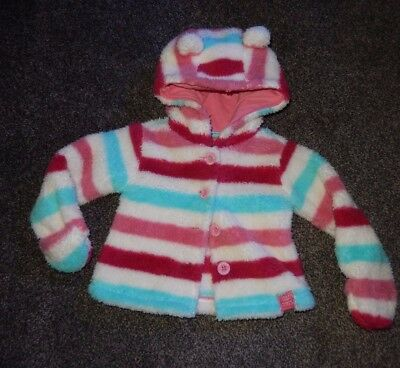 Girls Fleece Top/jacket Joules Babyflissy Age 0-3 Months Fit More 3-6 Months