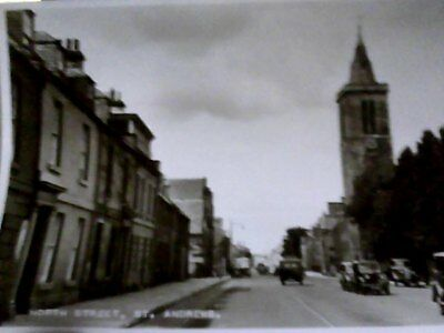 post card north street st.andrews no b8204 r/p unposted