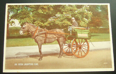 Postcard : Ireland, an Irish Jaunting Car : Horse & Carriage