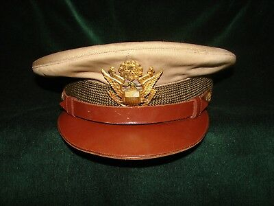 US WWII Army Officers Visor Hat/Cap-Very Good to Excellent-size 7 1/8