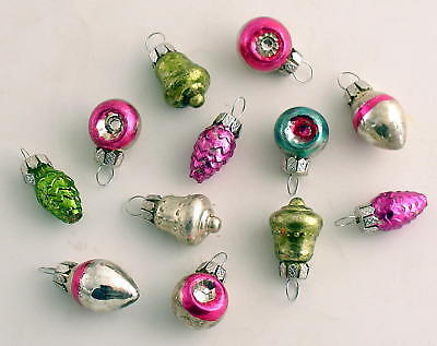 Glass Christmas Ornaments Small Feather Tree Ornaments