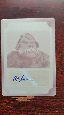 Paul Springer Guard AUTOGRAPH PRINTING PLATE Card Star Wars Rogue One Mission