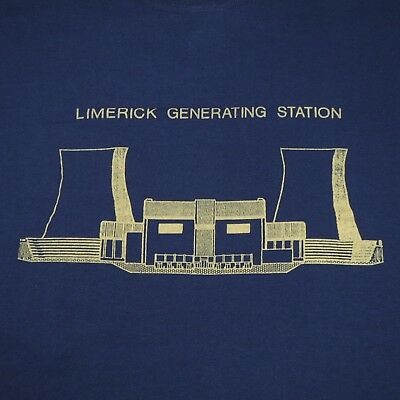 LIMERICK GENERATING STATION  NUCLEAR POWER PLANT - VINTAGE 80s T SHIRT - XL