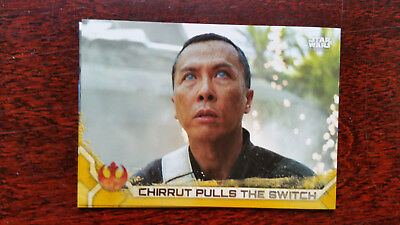 86 Chirrut Pulls the Switch GOLD 17/50 Parallel Base Card Star Wars Rogue One
