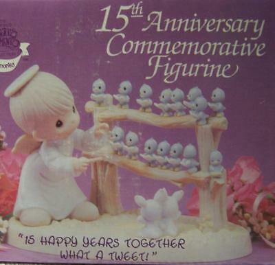 """Precious Moments Figurine """"15 Happy Years Together - What a Tweet"""" In Orig. Box"""