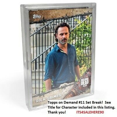 2017 Topps On Demand #11 The Walking Dead Season 8 RICK GRIMES (ANDREW LINCOLN)