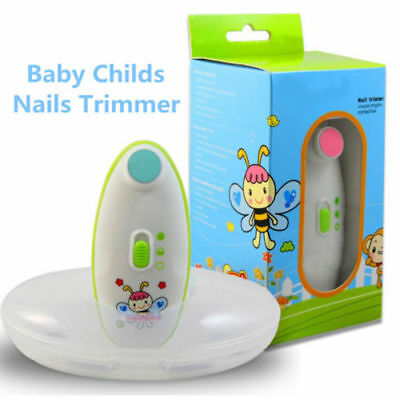 Baby Childs Nails Trimmer Cutters Safe Anti splash Electric Nail Clippers New