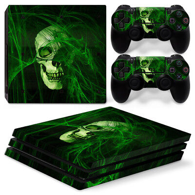 #471 Faceplates, Decals & Stickers Skulls Ps4 Protective Skin Sticker Set Console And 2 Controllers