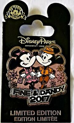 Disney Parks FINE & DANDY 2017 Mickey and Minnie LE 5000 pin