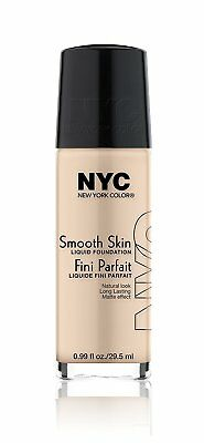 N.Y.C. New York Color Smooth Skin Foundation, Natural Beige, 1 Fluid Ounce