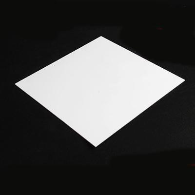 "US Stock 4x White Teflon PTFE Virgin Sheet 0.3x250x250mm .0118"" x 9.8"" x 9.8"""