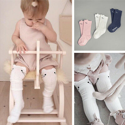 Cute Cotton Baby Kids Socks Knee High Long Socks Toddler Clothing Accessories FS