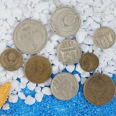9Pcs Soviet Coins Set Commemorative Coin Collectible Gifts New.