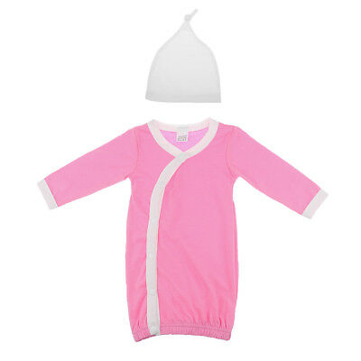 Unisex Baby Hat and Gown Layette Set Long Sleeve Sleeping Bag Great Gifts