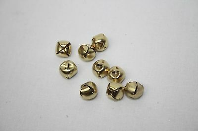 9 x Trimits Mini Jingle Bells - Gold x 10mm Christmas Card Craft Jewelry