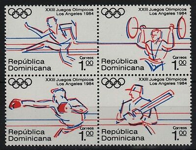 Dominikanische Republik 1984 - Mi-Nr. 1427-1430 ** - MNH - Olympia Los Angeles