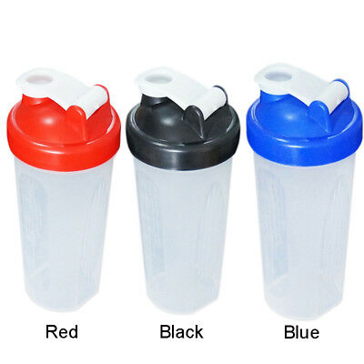 New 600ml Shake Protein Blender Shaker Mixer Cup Drink Whisk Bottle Cocktail Gym