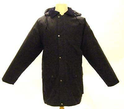 Campbell Cooper New British Hunting Wax Cotton Jacket Coat Padded Blue Small