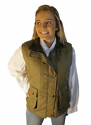 Campbell COOPER femmes tweed chasse équitation Gilet de chasse vert NEUF 1ac92bb6aac7