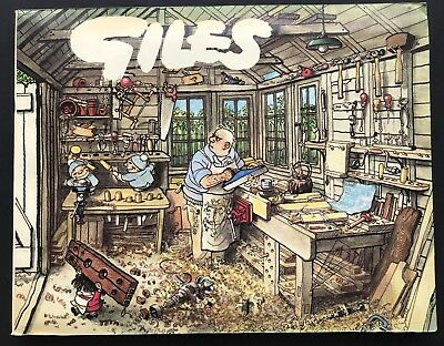 GILES ANNUAL - 31st SERIES (Paperback, 1977) Cartoon Collection, Unclipped