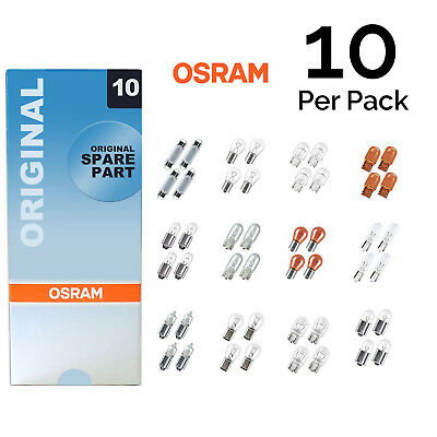 10x Genuine Osram Original 12v Clear Halogen Car Bulbs Multi-Pack