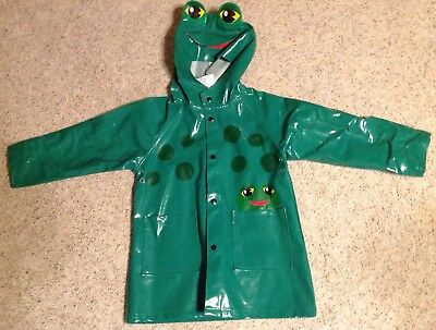 dfc301817 Western Chief Green Frog Rain Coat Unisex 2T Childrens