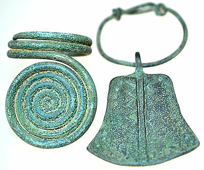 Viking Bronze Amulet Pendant & Viking Bronze Spiral Ring Set