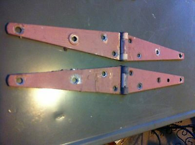 Vintage Pair of Garden Gate Barn Door Hinges hardware