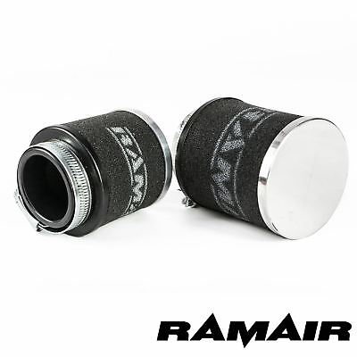 43mm ID Neck - Chrome Cap Motorcycle Pod Air Filter