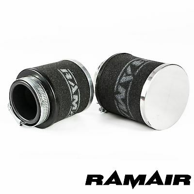 34mm ID Neck - Chrome Cap Motorcycle Pod Air Filter