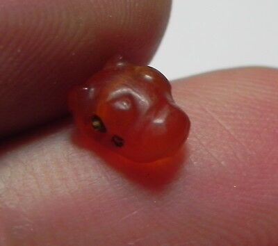 Zurqieh -Asw140- Ancient Egypt , Beautiful Carnelian Bull 18Th Dynasty. 1550 B.c
