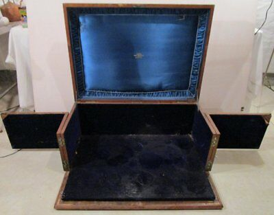 ANTIQUE P.Orr & Sons WOODEN SILVER CHEST Coat of Arms of Alfred, Prince of Wales